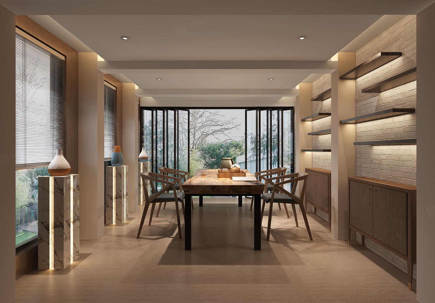 中邦上海城 现代简约装修餐厅效果图