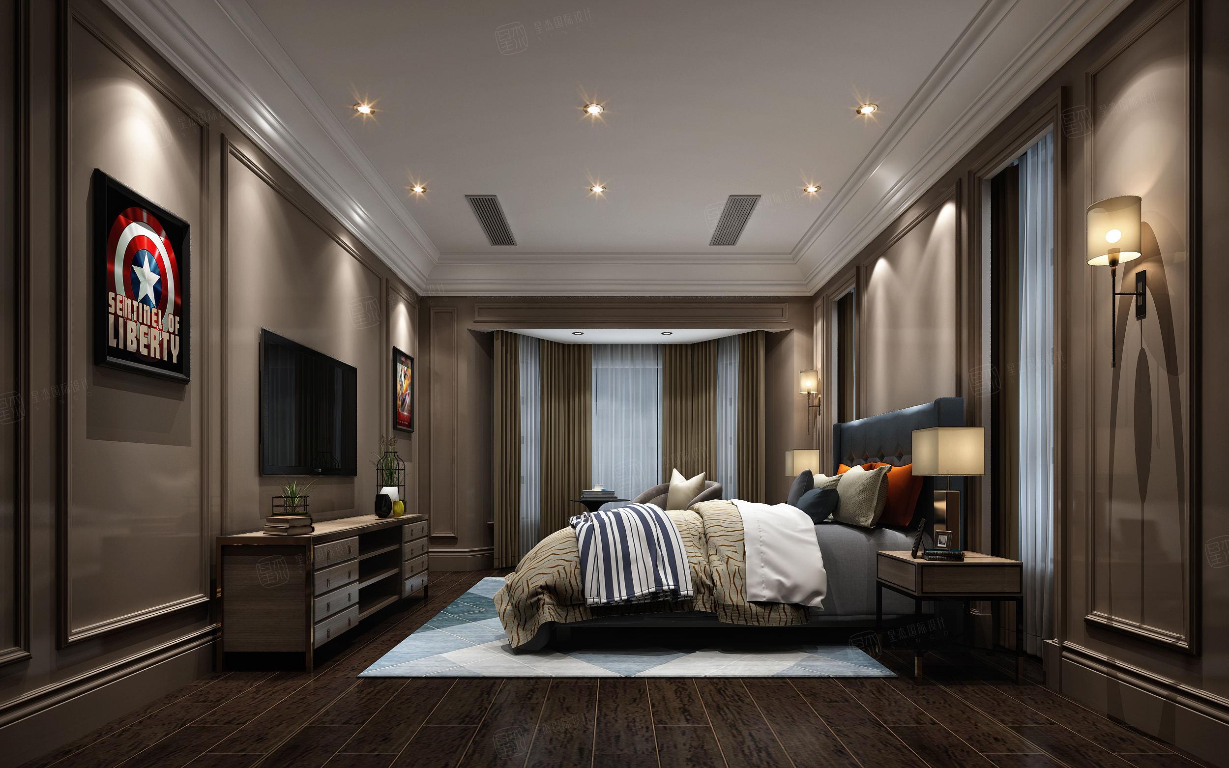 安墁西郊 现代简约装修卧室效果图