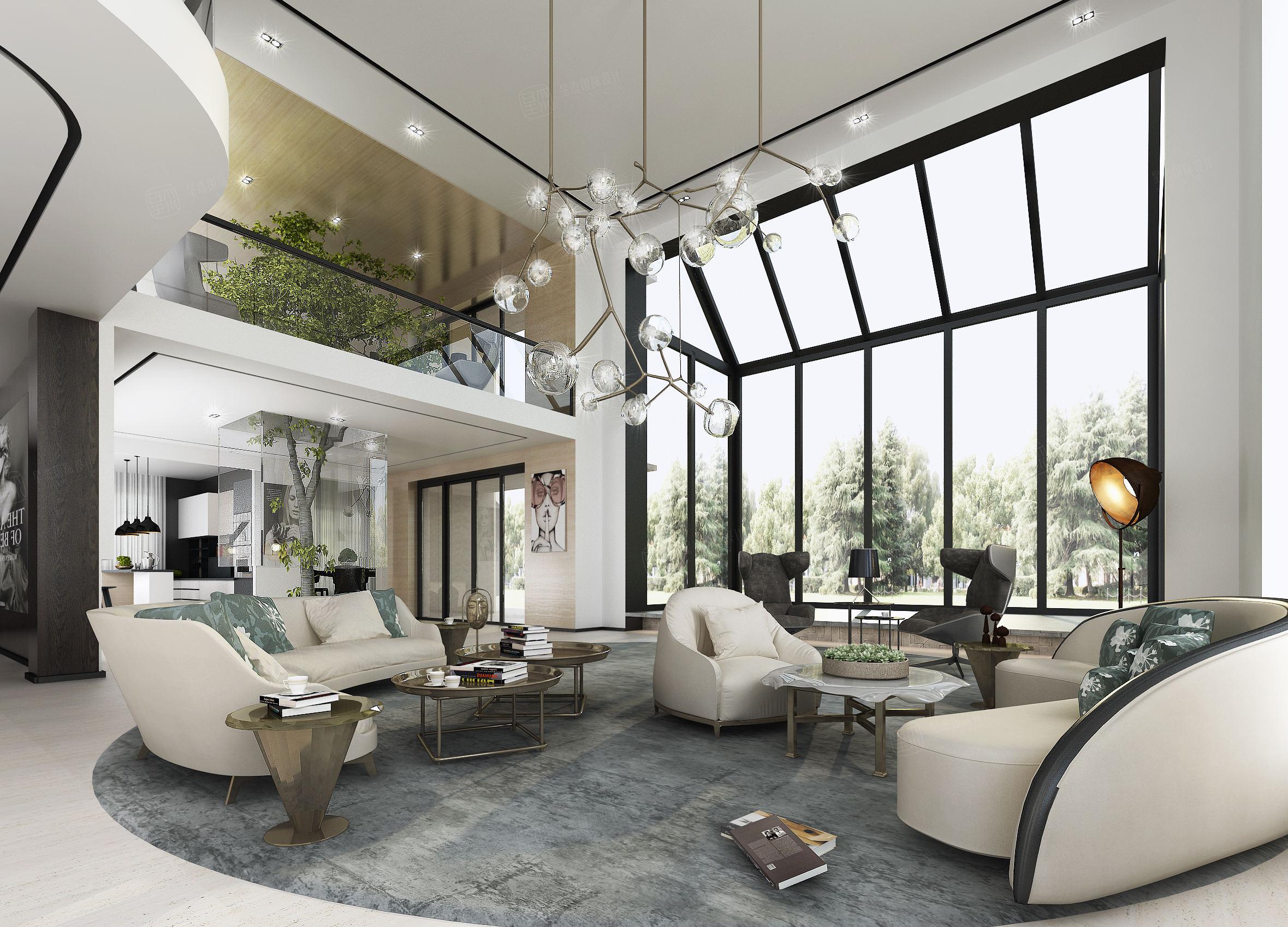 湖南碧桂园 现代装修客厅效果图