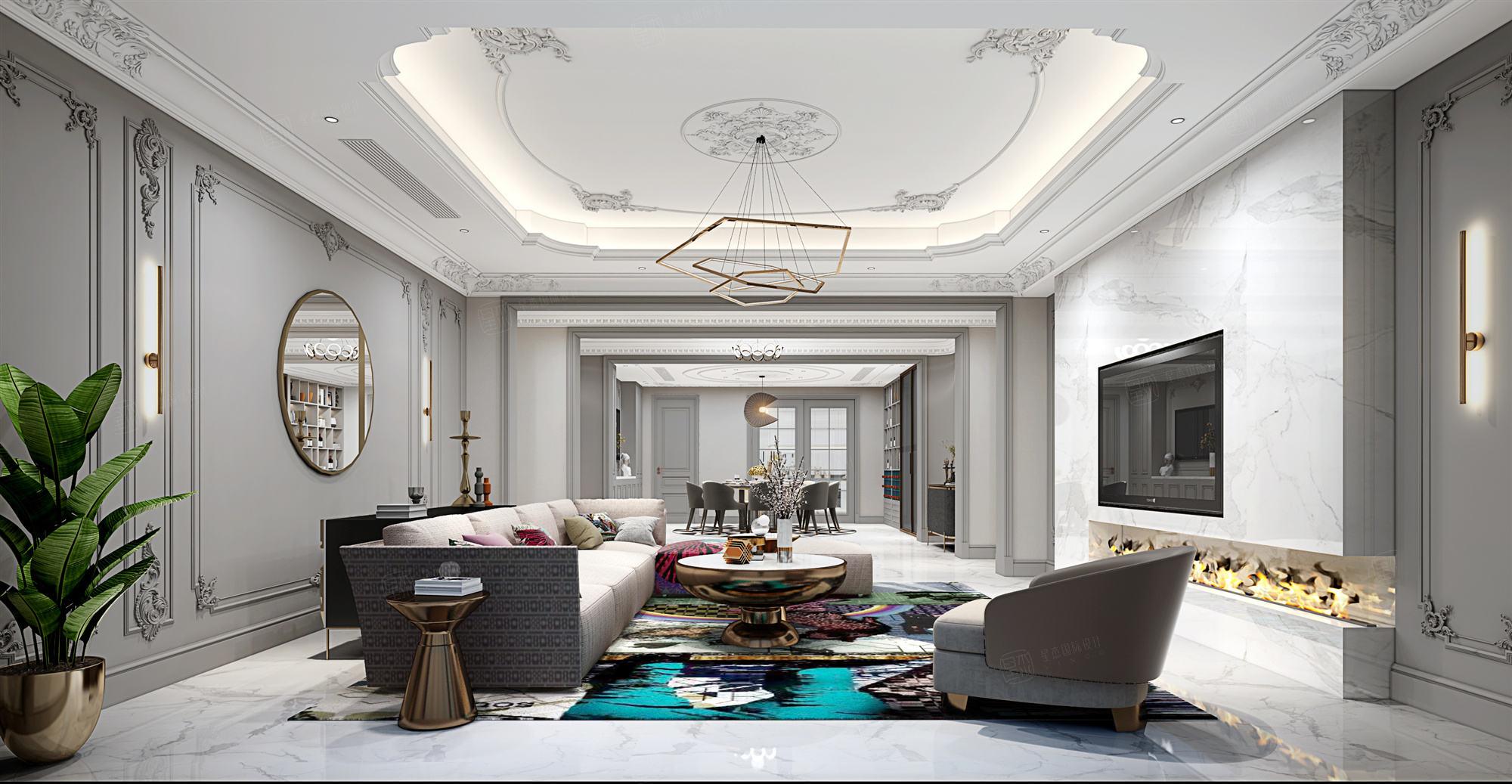 银河丽湾  现代装修客厅效果图