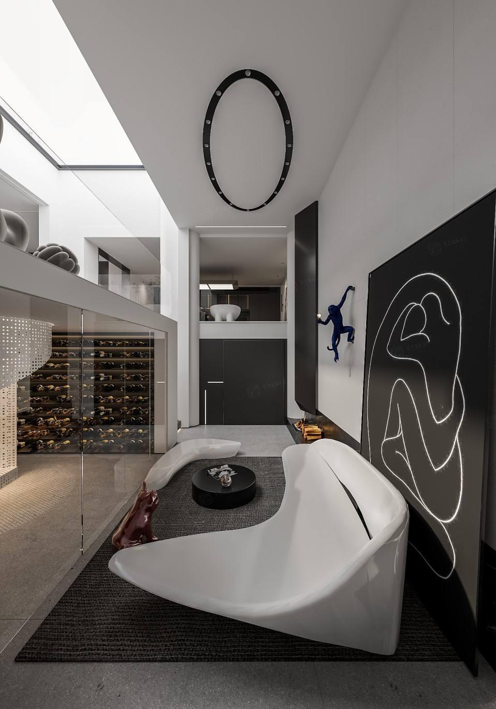 世纪珑墅  现代风格装修效果图