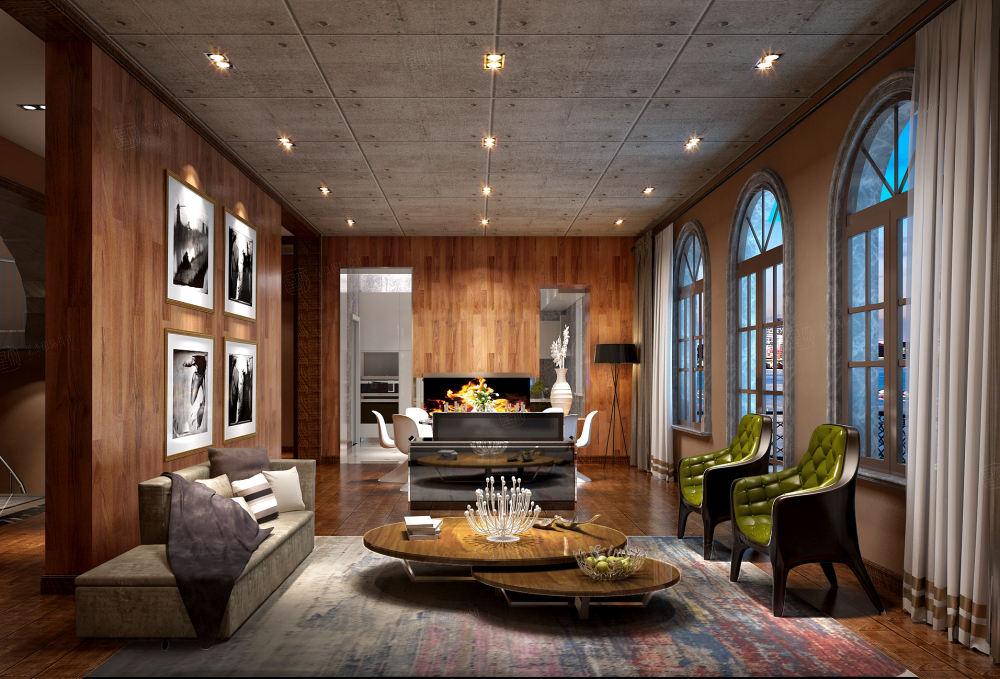 绍兴绿城玉园 后现代装修客厅效果图