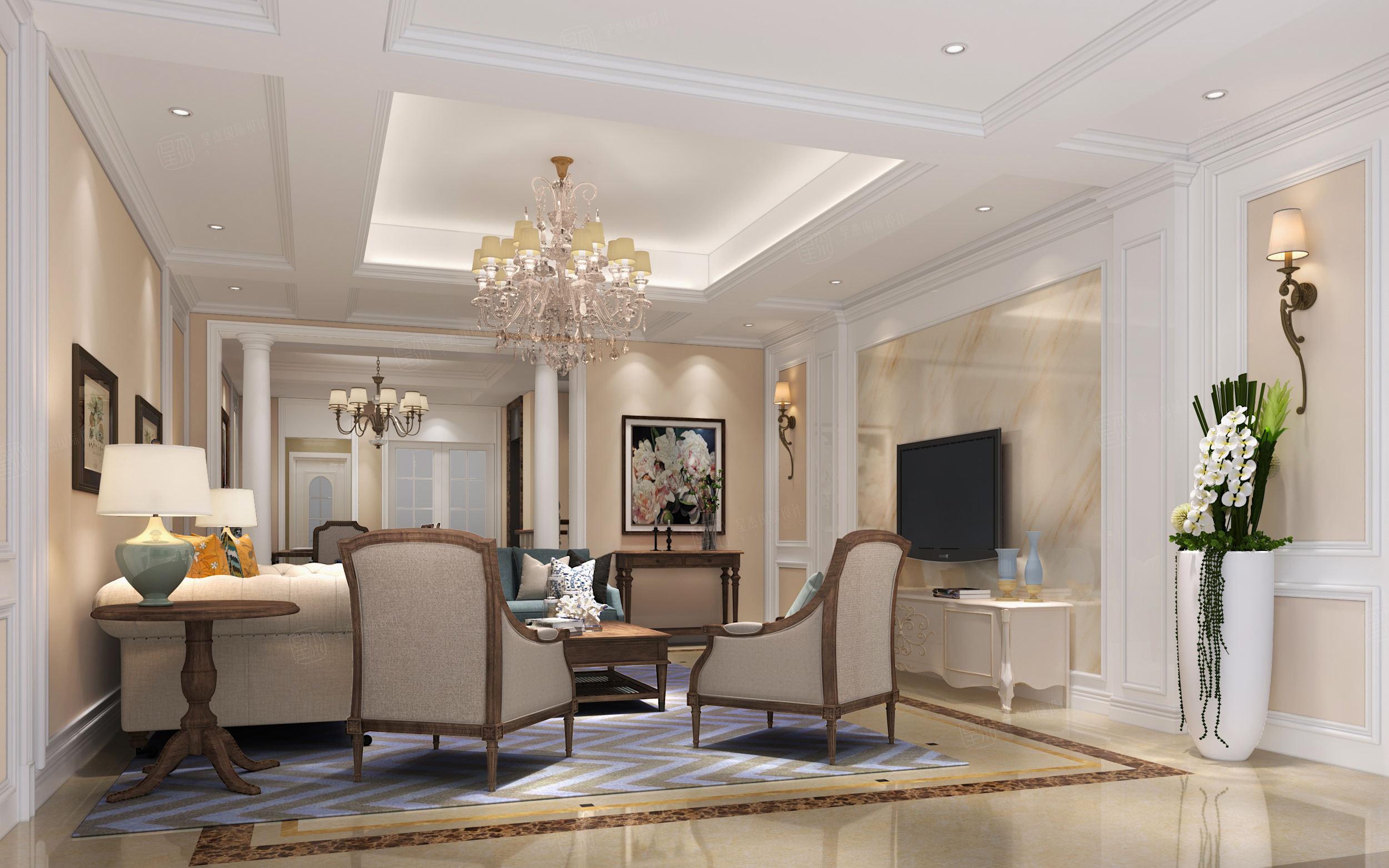 圣特丽墅 欧式装修客厅效果图