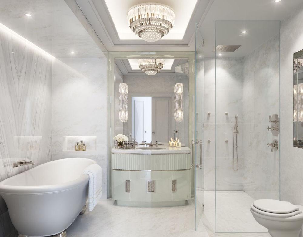 华都公寓 美式装修卫生间效果图