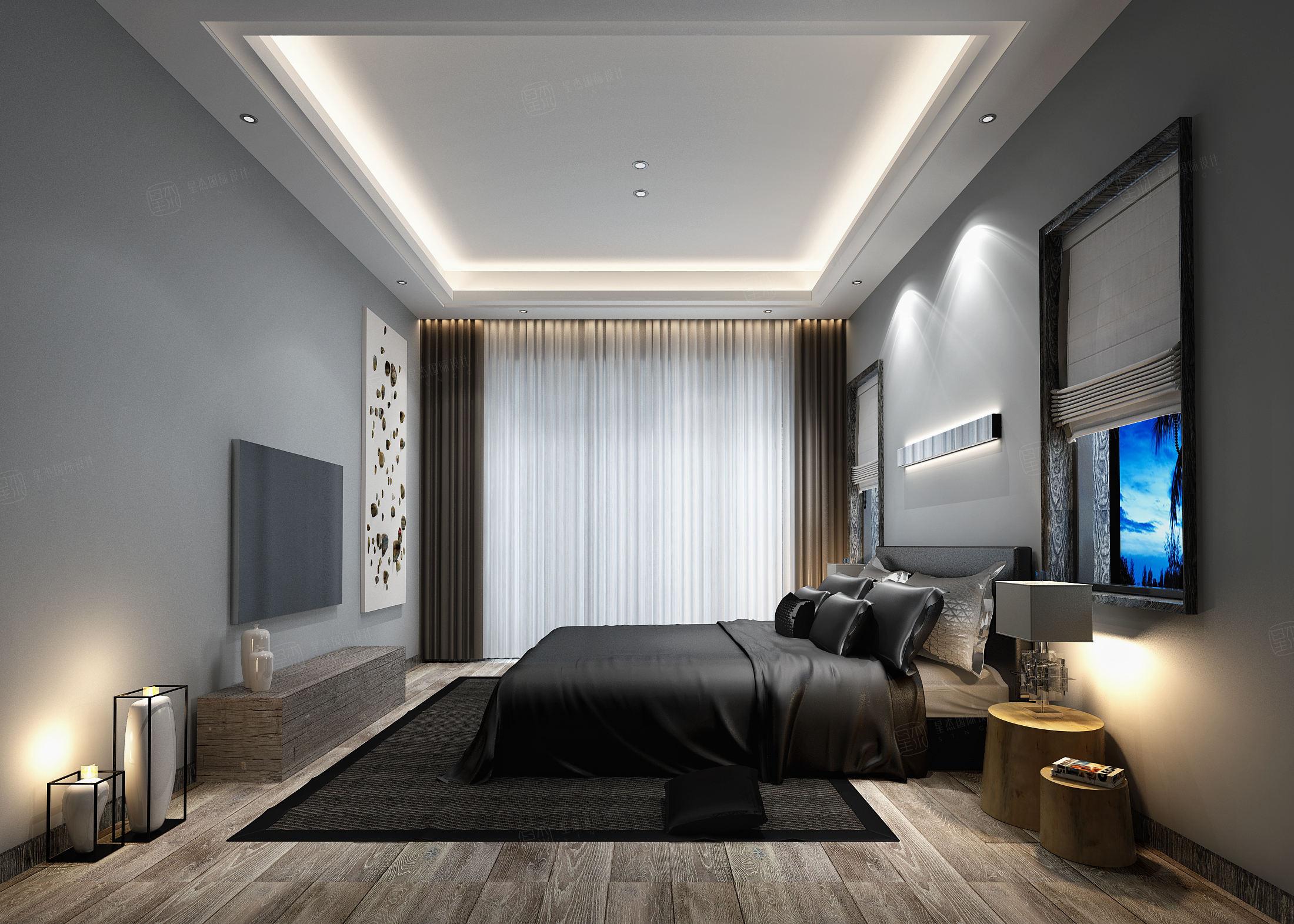 东海御庭 现代风格装修卧室效果图